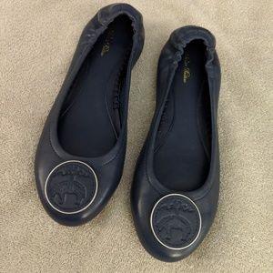 83677f3291a Brooks Brothers Logo Medallion Leather Flats